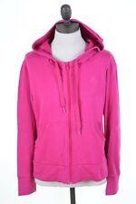 ADIDAS Womens Hoodie Jacket Size 16 Large Pink Cotton Vintage