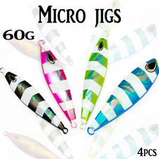 4x 60g Micro Jigs Glow Metal Jigging Jig Inchiku Lead Snapper Jewfish Kings Slow