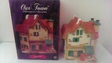 Our Town Illuminated Collectable Bedford Lodge Handpainted Ceramic, (NEW)