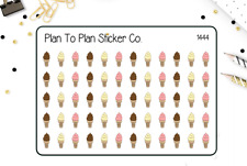 1444~~Ice Cream Cones Planner Stickers.
