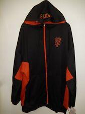 91110-44 Mens Majestic SAN FRANCISCO GIANTS Plus Size Full Zip Hooded Sweatshirt
