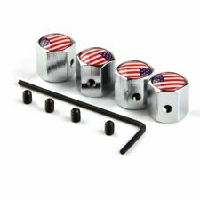 USA American Flag Screw on Car Wheel Tire Valve Stem Air Caps Anti-Theft Cover