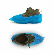 Blue Disposable Shoe Covers Protector Non Slip Waterproof Rain Shoes 50 Pairs