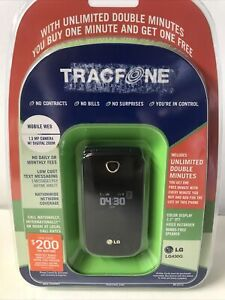 LG 430G Black TracFone Voice Bluetooth Pre-paid Cell Phone. Brand New Sealed