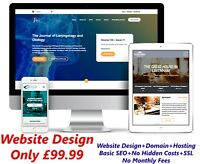 WordPress Website Design Business Email Domain & Hosting Included Web Design