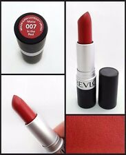 REVLON MATTE LIPSTICK IN THE RED #007 DUPES MAC RUSSIAN LIPS COLOR FREE SHIPPING