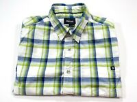 Marmot M Men's Ellis Peak Short Sleeve Button Front Organic Cotton Check Shirt