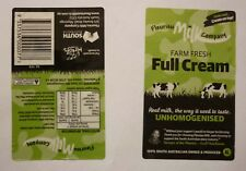 AUSTRALIAN MILK BOTTLE LABEL, FLEURIEU MILK Co FULL CREAM 1 Lt U/H