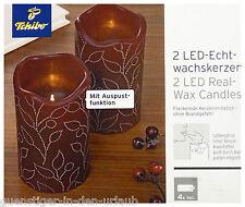 TCM Tchibo 2 x LED Kerzen Kerze Echtwachskerze Wachskerze Real Wax Candle