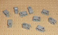 LEGO-TECHNIC ejes y Pin Conector perpendicular gris claro x 10 (6536) TK272