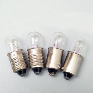 B9 E10 Screw/Bayonet Indicator Light Bulb Lamp 6.3/12/24/30/36/48V 1/1.5/2/3/5W