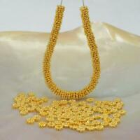 Lot 100 Daisy Bali Spacer 4.0mm Beads 8 g Gold Vermeil 24K on Sterling Silver