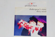 "SHAKESPEAR'S SISTER -Dirty Mind- 7"" 45 mit Product Facts Promo-Flyer"