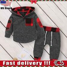 Toddler Baby Boys Hooded Tops T Shirt Long Pants Tracksuit Outfits Clothes Set