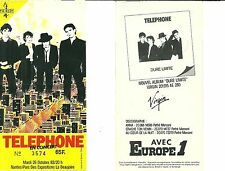 RARE / TICKET CONCERT - TELEPHONE A NANTES 1982 / AUBERT BERTIGNAC KOLINKA COCO