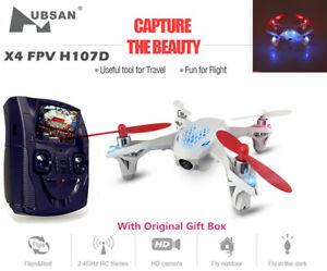 Hubsan H107D X4 2.4G FPV 4CH 6 Axis RC Quadcopter W/ HD Camera LCD Transmitter