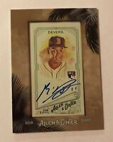 2018 Topps Allen Ginter framed mini auto autograph Rafael Devers rookie Rc