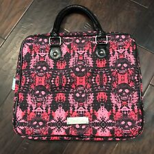 Betsey Johnson Skull Laptop Bag Tote Hot Pink And Black New No Tags
