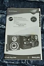 Philips Mini Hi-Fi System FW C555 Manual Instruction Book Booklet Directions