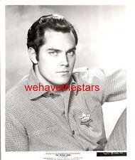 Vintage Jeffrey Hunter QUITE HANDSOME SEXY 50s PROUD ONES Publicity Portrait