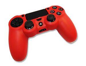 Playstation PS4 Dualshock 4 Controller Red Silicone Gel Soft Skin Grip Case UK