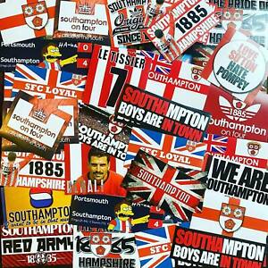 100 x Southampton Ultra Style Stickers inspired by Saints SFC Poster Programme