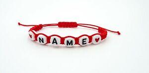Personalised Custom Adjustable Handmade Macrame Bracelet Any Name Perfect Gift