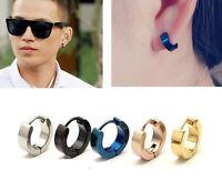 2 Punk Men Women Ear Ring Studs Clip Earrings Hoop Piercing Jewelry Accessories