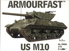 M10 US Tank Destroyer (x2) 1/72 plastic kit Hat Armourfast 99004 Free post