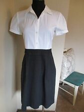 d0dbd377224 Theory Wear to Work Dress Career Short Sleeve Black White Size 10