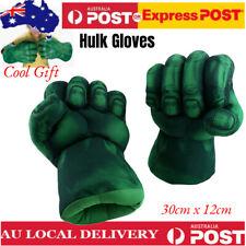 2x Incredible Hulk Gloves Smash Hand Plush Punching Boxing Fist Cosplay AU Ship