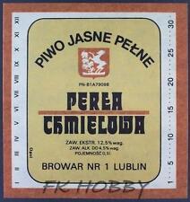 Poland Brewery Lublin Perła Beer Label Bieretikett Etiqueta Cerveza lu35.1