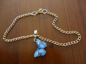 butterfly bracelet hand made chain made by me gold or silver you choose :)