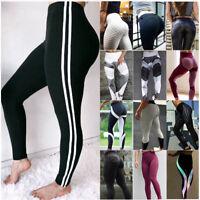 New Womens Workout Leggings Yoga Gym Slim Fit Sports Training Hip Push Up Pants