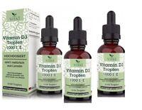 Vitamin D3 1000I.E 6300 Tropfen  Familien Angebot 100 ml 3 Flaschen D3