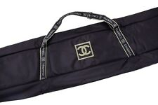 New & Rare CHANEL snowboard Skis Travel case bag Collector Black Green CC logo