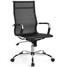 Office Chair Desk Chair Mesh Computer Chair With Lumbar Support High Back Black