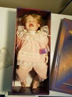 Ashley Belle Fine Bisque Porcelain Collectible Crying Baby Doll.