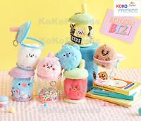 BTS BT21 Official Baby Boucle Bubble Tea Plush Doll Bag Charm KPOP Merch Item MD