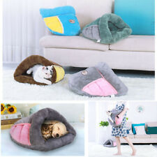 Pet Cat Dog Puppy Nest Bed Washable Warm House Kennel Sleep Winter Bag Mat Pad