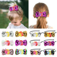 Kids Girls Sequin Hair Clip Headband Hairpin Bowknot Hair Bands Accessories