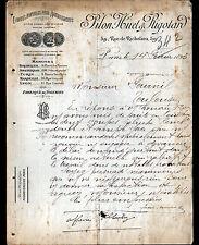"""PARIS (II°) BRODERIES ETOFFES d'AMEUBLEMENT """"PILON , HUET & RIGOTARD"""" 1895"""
