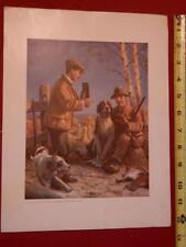 vtg dog print Hunting Fishing National Sportsman magazine William Harnden Foster