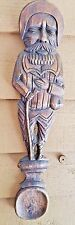 RUSTIC SPOON HAND CARVED WOODEN MAN TRAVELER LARGE PRIMITIVE WALL DECOR UNIQUE
