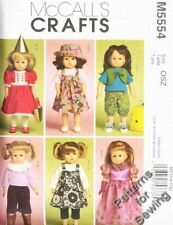 "Pattern McCalls Sewing Doll Clothes Gown Riding MOD fit 18"" inch Girl"