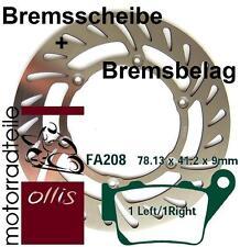 EBC rear brake rotor / disk / disc + brake pad - KTM LC2 125 - stainless steel