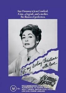 Mommie Dearest DVD Brand New Sealed R4 FAYE DUNAWAY (WIDESCREEN)