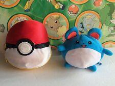 Pokemon Plush Marill Reversible Soft Pokeball doll stuffed fi 00004000 gure toy Usa Seller