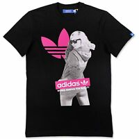 ADIDAS ORIGINALS GRAPHIC TEE GIRL TREFOIL HERREN FREIZEIT T-SHIRT X34433 SCHWARZ