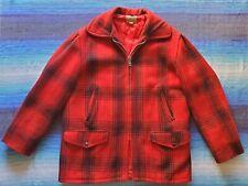 Vtg 60s Penney's Foremost Red Buffalo Plaid Set, Jacket & Pants, Men's L, Usa
